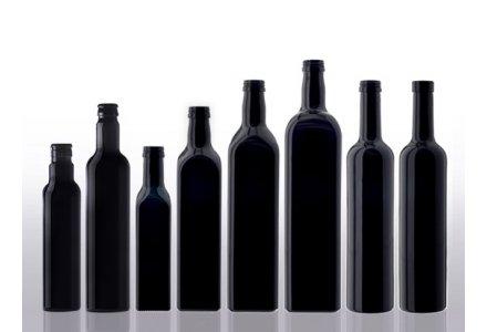 Miron violet glass oil bottles square model
